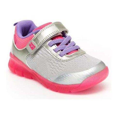 Stride Rite Light Up Neo Silver / Pink Running Shoes