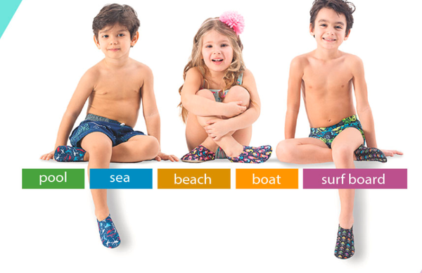 Slip Stops - Non Slip Water / Beach Shoes for Every Age! - Blue Sharks