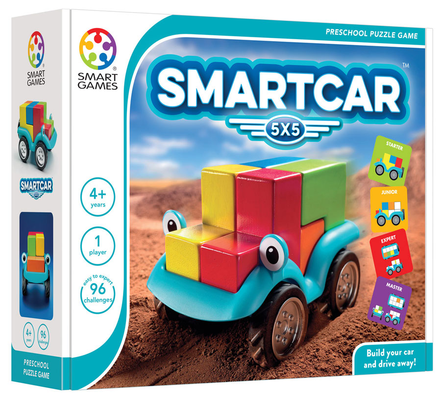 SmartCar 5 x 5 - Smart Games 1 Player Puzzle Game 4 Years +