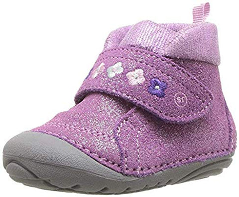 Striderite Soft Motion Sophie Purple Early Walking Ankle Boot
