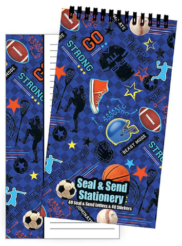 40 Seal and Send Stationary - Sports Theme