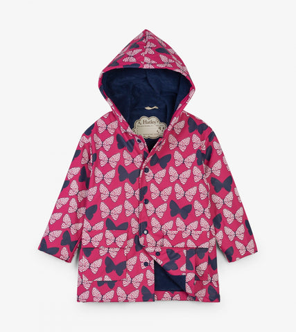 Hatley Raincoat - Spotted Butterflies Colour Changing