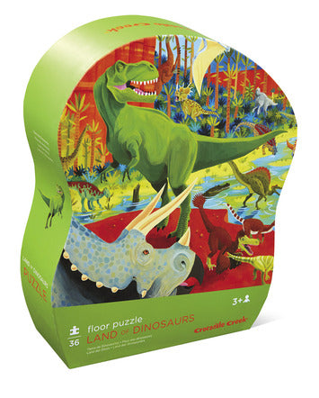36 Piece Floor Puzzle - Land of Dinosaurs