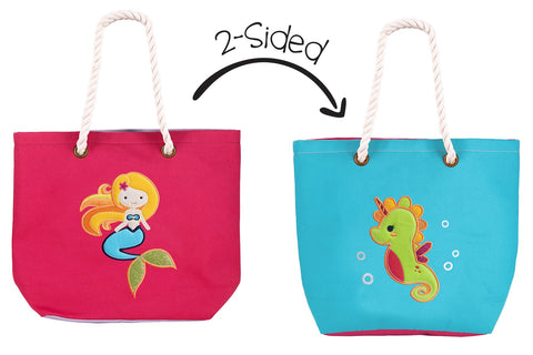 Flapjack Kids Reversible 2 Sided Kids Totes / Beach Bags