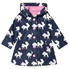 Hatley Raincoat - Colour Changing Unicorns Splash Jacket