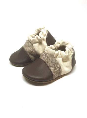 Nooks Design Infant Soft Sole Shoes - Walnut
