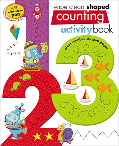 Wipe Clean Shaped Counting 123 Activity Book
