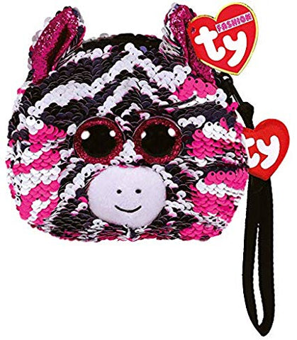Ty Fashion Magic Sequin Beanie Boo Wristlet Coin Purse - Zoey