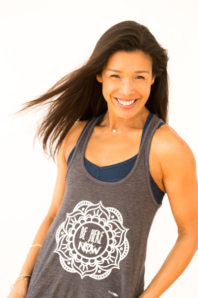 Be Here Now Flowy racerback Tank