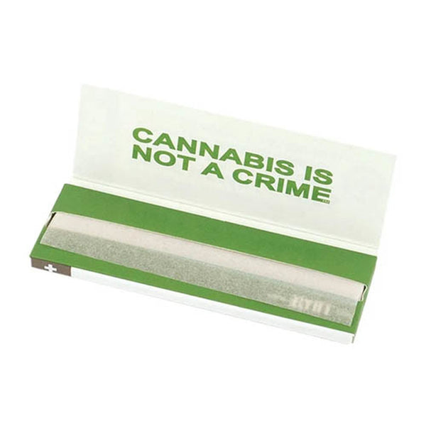 "RYOT Rolling Papers 1 1/4"" Organic True Hemp Leaves - ""Not A Crime"" Graphic (25pc Display) - Online Headshop Smoke Shop"