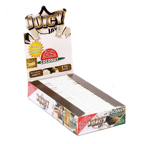 Juicy Jay's Hemp Rolling Papers 1 1/4 - Flavored (Display of 24) - Online Headshop Smoke Shop
