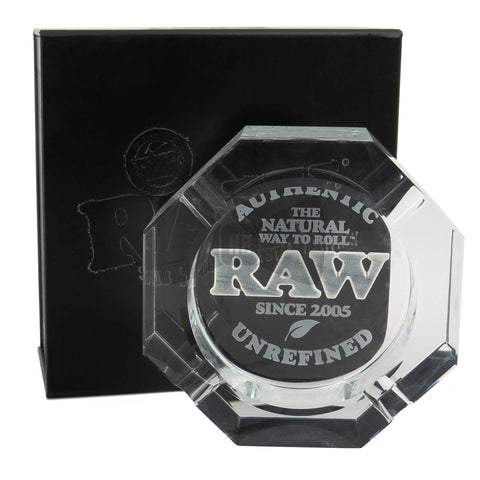 Raw Crystal Glass Ashtray - Online Headshop Smoke Shop