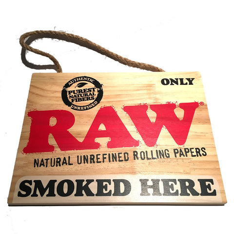 Raw Wooden Sign - Online Headshop Smoke Shop
