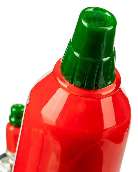 """Sriracha Themed"" Glass Attachment for Puffco Peak - Online Headshop Smoke Shop"