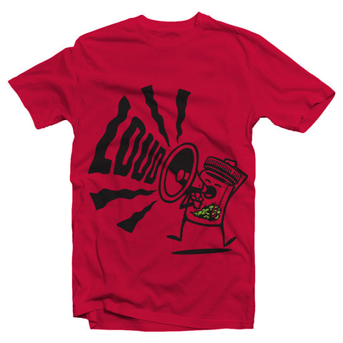 kush groove mens red kush Loud tshirt on sale streetwear boston smoke shop