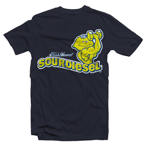 kush groove mens navy sour diesel t-shirt on sale streetwear boston smoke shop