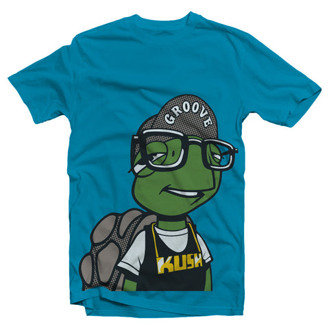 kush groove womens ladies hipster teal t-shirt on sale streetwear boston smoke shop