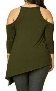 Asymmetric Cold Shoulder Top