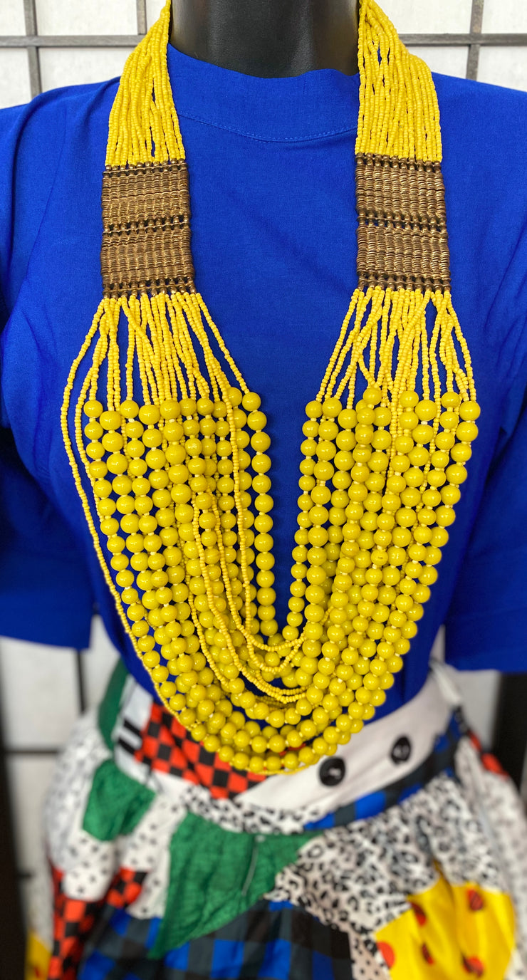 Just the right POP OF COLOR beaded necklace!