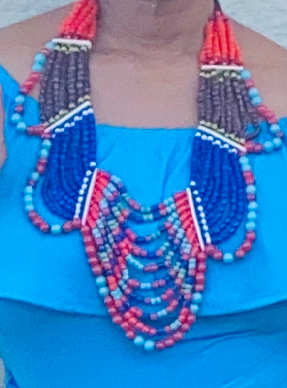 Multi-Layered Beaded Necklace