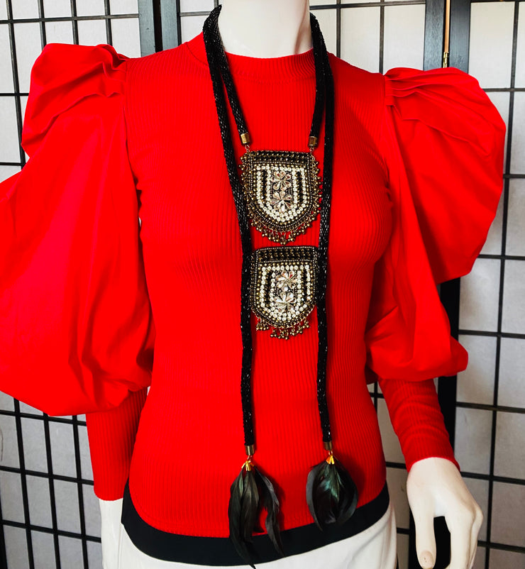 Right Touch Blouse (Red)