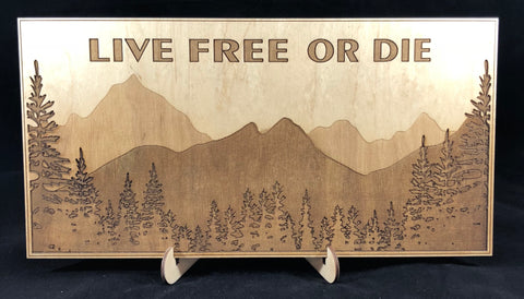 Live Free of Die Plaque