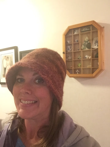 Wool felted Cloche hat