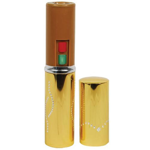 Gold Lipstick Stun Gun With Flashlight