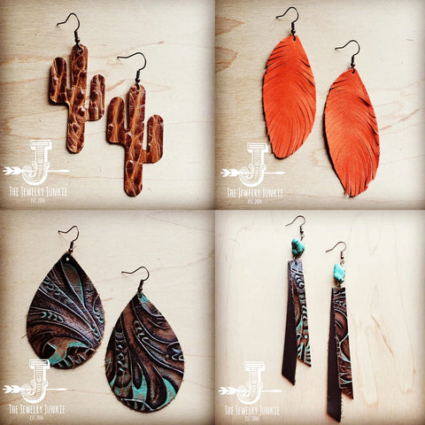 Are leather earrings popular?