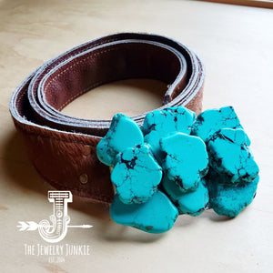 Turquoise Slab Belt Buckle 901a