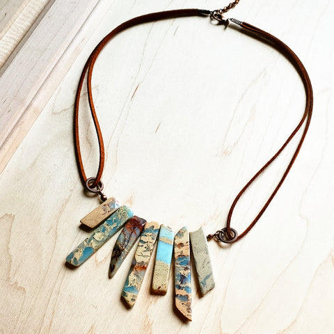 AQUA TERRA Leather Cord Necklace 231E