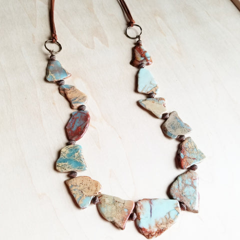 Aqua Terra Slab Necklace 239m - The Jewelry Junkie