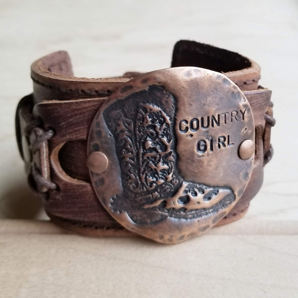 Molten Metal Country Girl Cuff in Copper 009e - The Jewelry Junkie