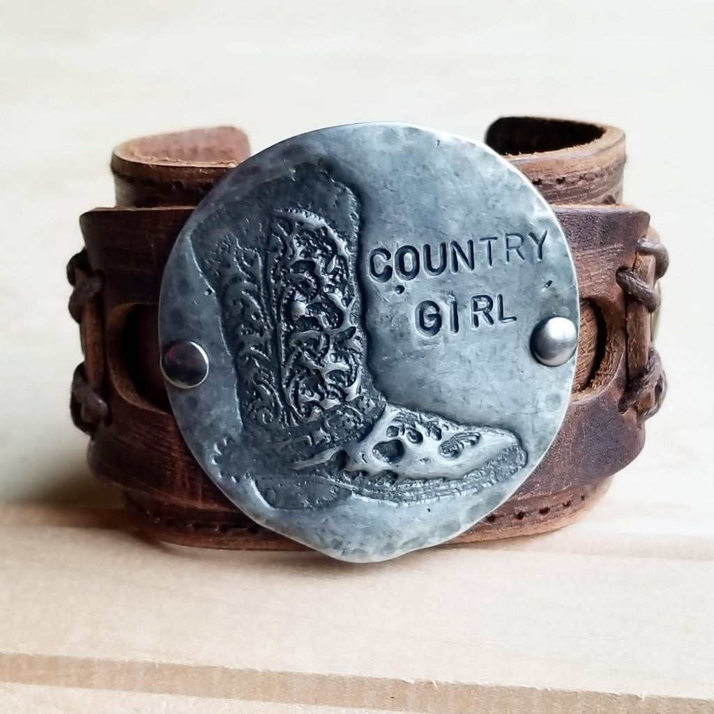 Molten Metal Country Girl Cuff in Antique Silver 009f - The Jewelry Junkie