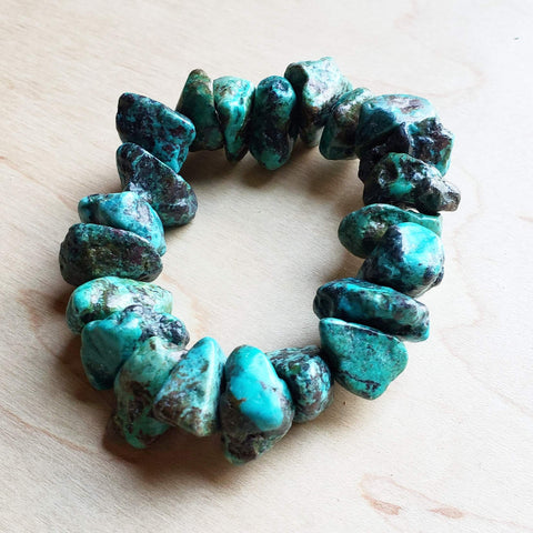 Chunky Natural Turquoise Bracelet 802b