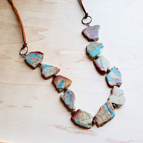 Aqua Terra Slab Necklace 239m