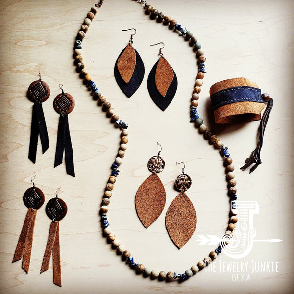 Tan Leather Accessories by The Jewelry Junkie