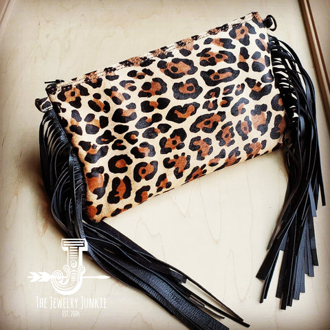 Leopard Hair-on-Hide Clutch Handbag 501b