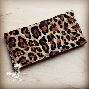 Hair-on-Hide Leather Wallet-Leopard 300s