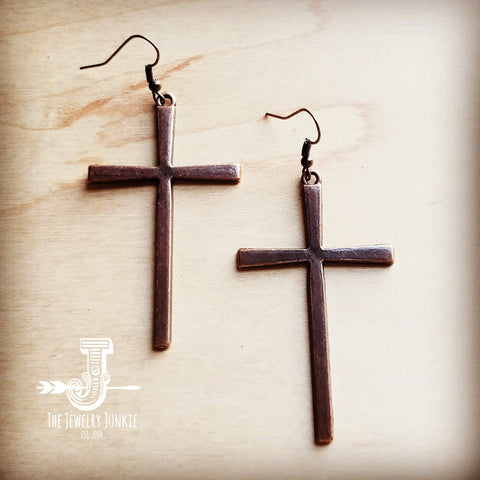 Copper Cross Earrings 235Q