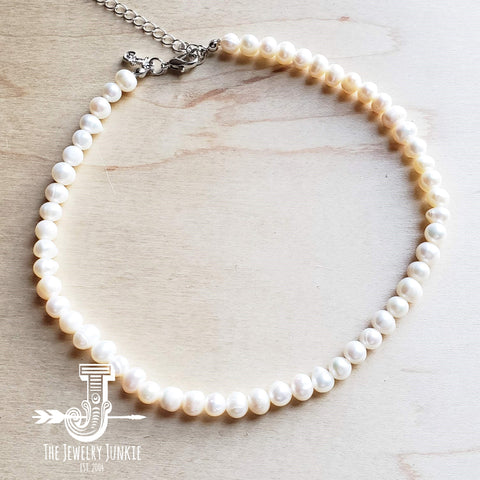 Genuine Freshwater Pearl Choker Necklace 235u
