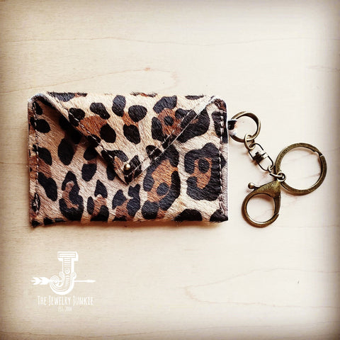 Sierra Credit Card Wallet-Hair on Hide Leopard (600s)