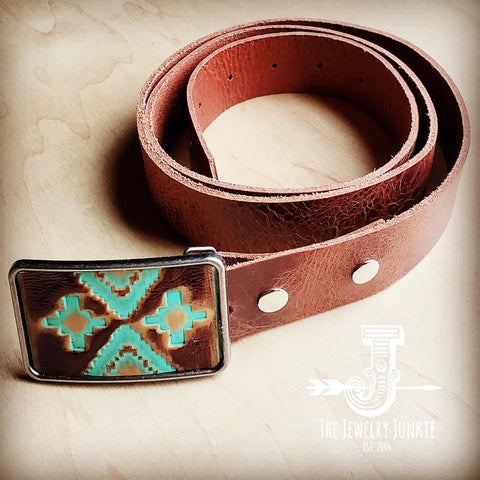 Navajo Leather Belt Buckle 901g