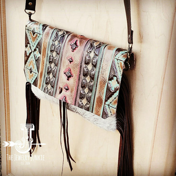 Hair on Hide Clutch w/ Navajo Flap 502c