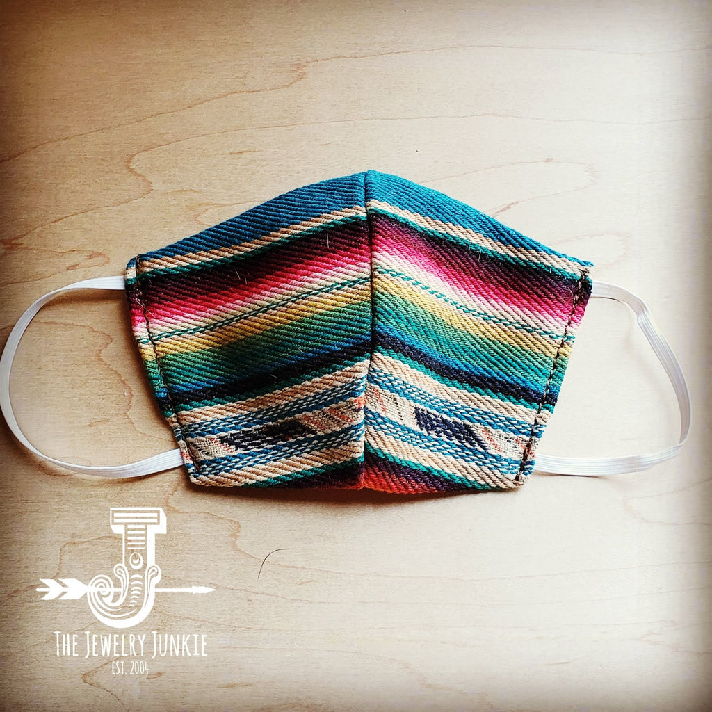 Adult Face Mask in Multi-Colored Serape Medium/Large 980h