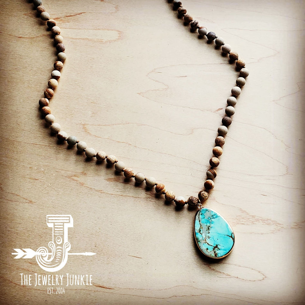 Soocho Jade Jasper and Indian Agate Necklace Jasper and Moss Agate Necklace Canadian Art Necklace Tridacna Jasper and Jade Necklace