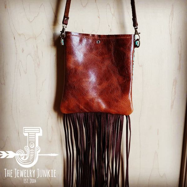 Small Crossbody Handbag w/ Cowboy Tooled Leather 503z