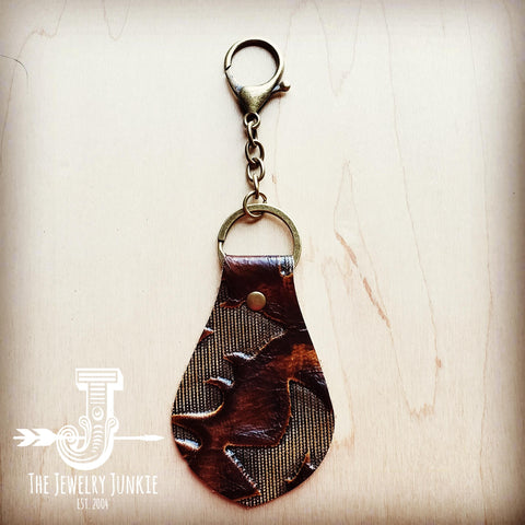 Embossed Leather Key Chain - Laredo 700w