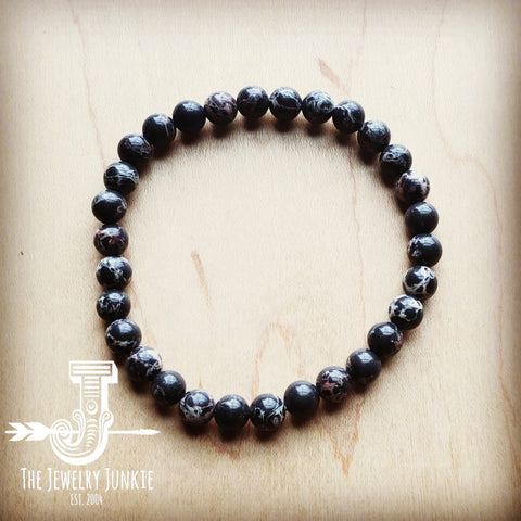 Bracelet Bar-Black Regalite Beads 804g