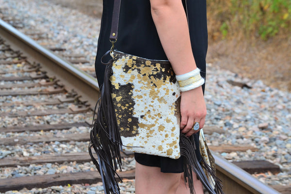Side view of a handmade purse from Jewelry Junkie